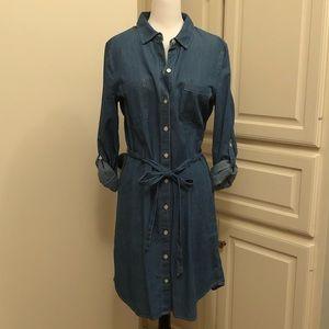 OLD NAVY Denim 3/4 Sleeve Dress